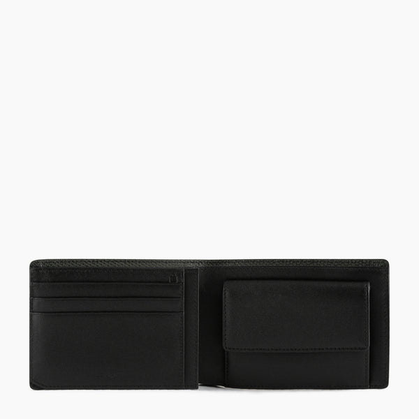 Horizontal zipped wallet 2 flaps Emile in leather monogram - Le Tanneur
