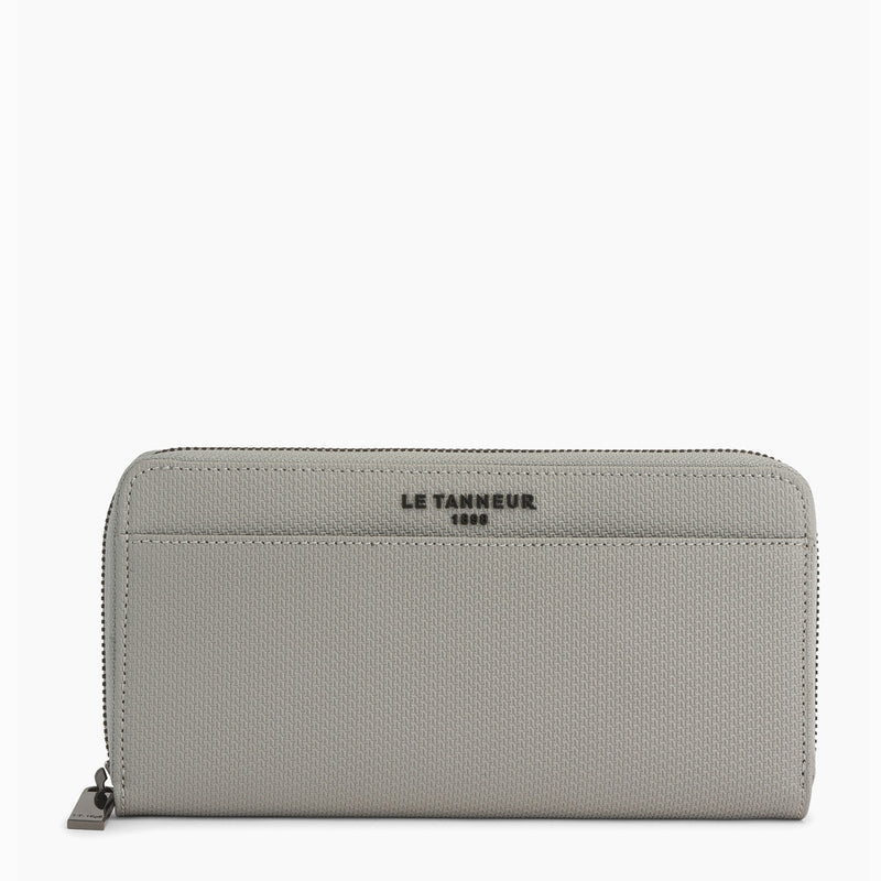 ZIpped Emile micor embossed leather organizer wallet - Le Tanneur