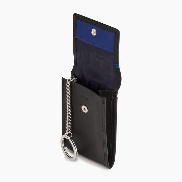 Martin smooth leather flap key case - Le Tanneur