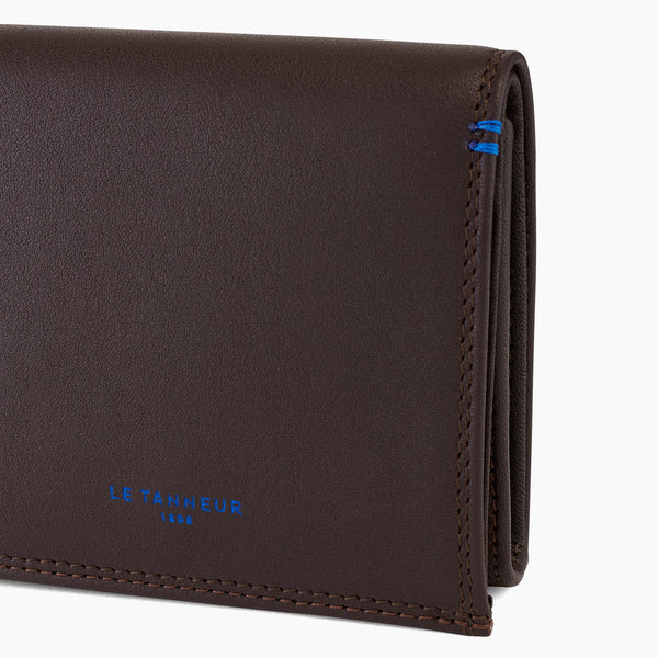 Wallet box with pocket bills Martin smooth leather - Le Tanneur