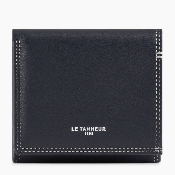 Martin smooth leather wallet with money box and bill pocket - Le Tanneur
