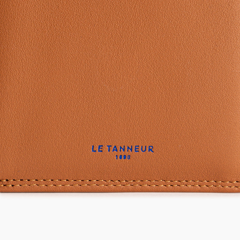 Large vertical zipped wallet with 2 flaps Martin smooth leather - Le Tanneur