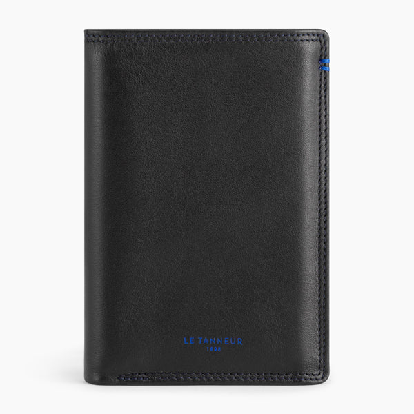 Martin smooth leather 3-panel vertical wallet - Le Tanneur