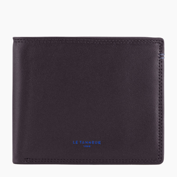 Martin smooth leather 2 flap wallet with flap - Le Tanneur