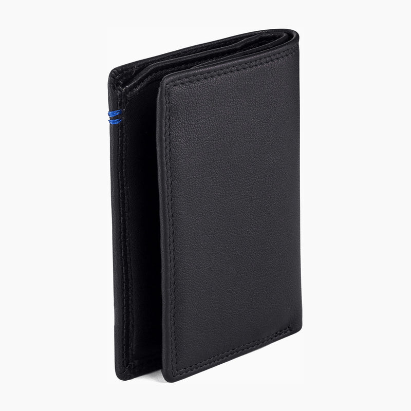 Small card holder with Martin smooth leather money pocket - Le Tanneur