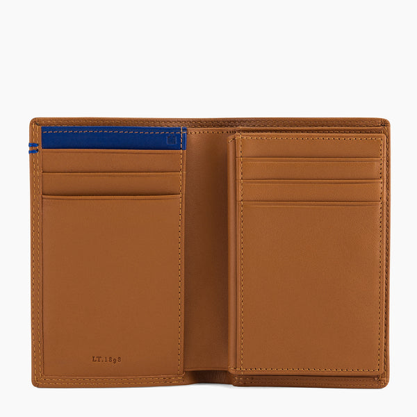 Medium size card case with Martin smooth leather money pocket - Le Tanneur