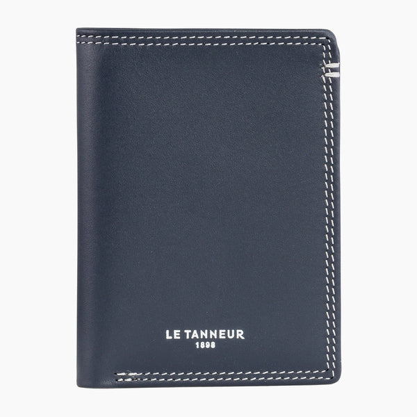 Small card holder with pocket Martin smooth leather - Le Tanneur