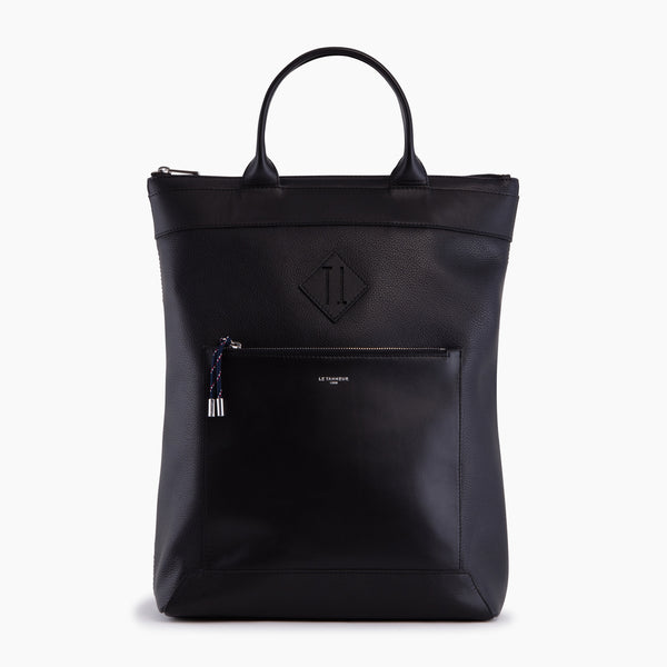 Nathan pebbled leather backpack bag - Le Tanneur