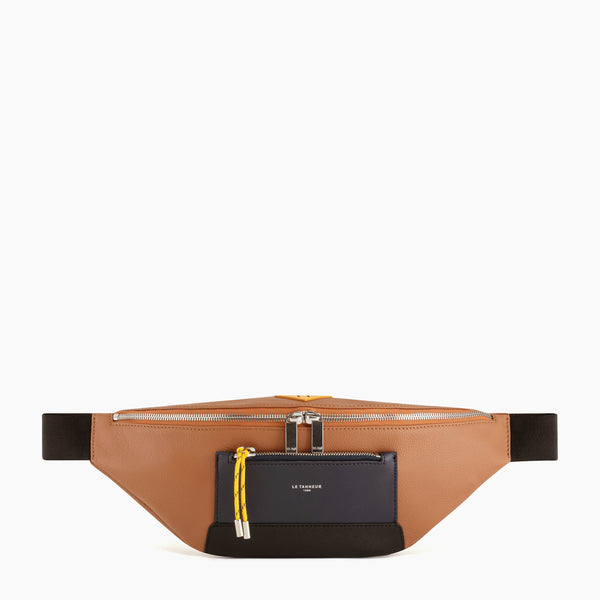 Nathan pebbled leather banana bag - Le Tanneur