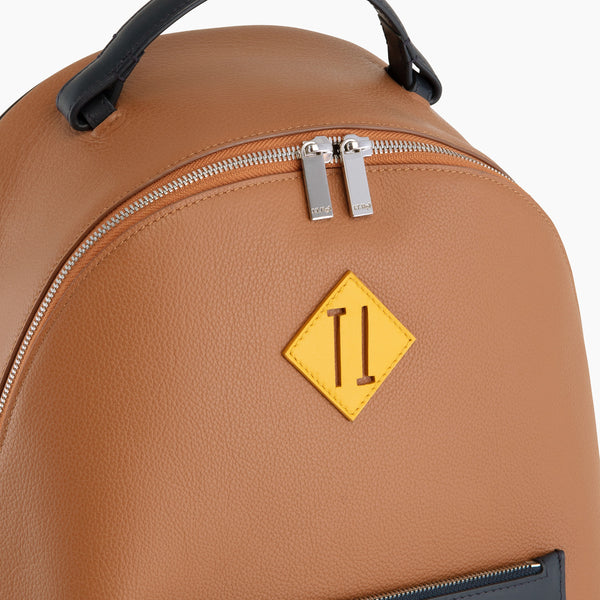 Nathan pebbled leather zippered backpack - Le Tanneur