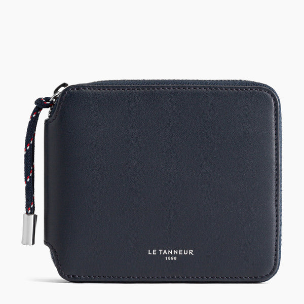 Nathan pebbled leather zippered wallet - Le Tanneur