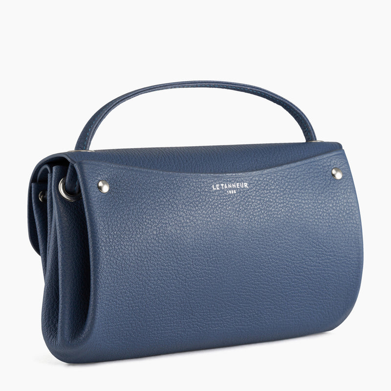 Flap pocket with removable shoulder strap - Sans couture pebbled leather Le Tanneur
