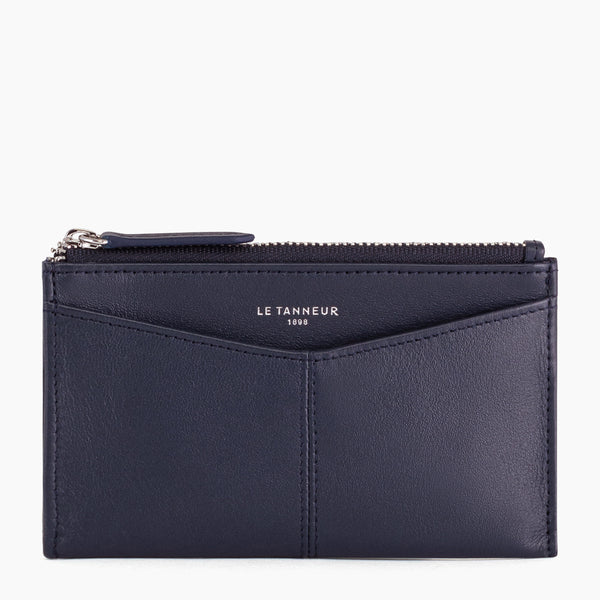 Charlotte smooth leather zippered key case - Le Tanneur
