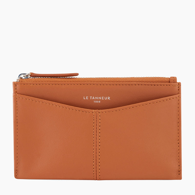 Charlotte smooth leather zipped key case - Le Tanneur