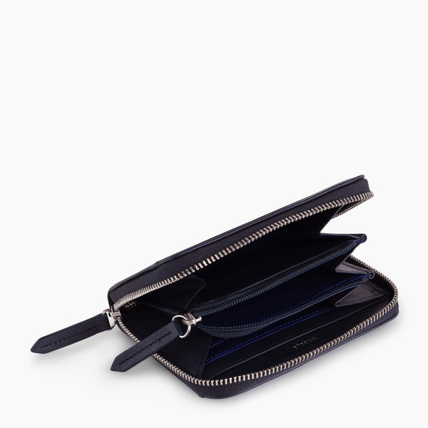 Zipped coin purse with removable card holder Charlotte smooth leather - Le Tanneur