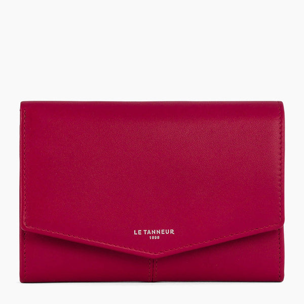 Charlotte smooth leather large zipped wallet - Le Tanneur