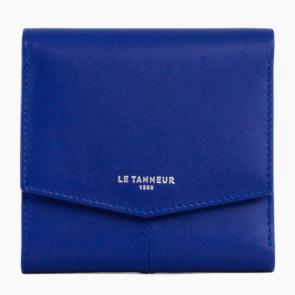Charlotte smooth leather 3 flap zipped wallet - Le Tanneur