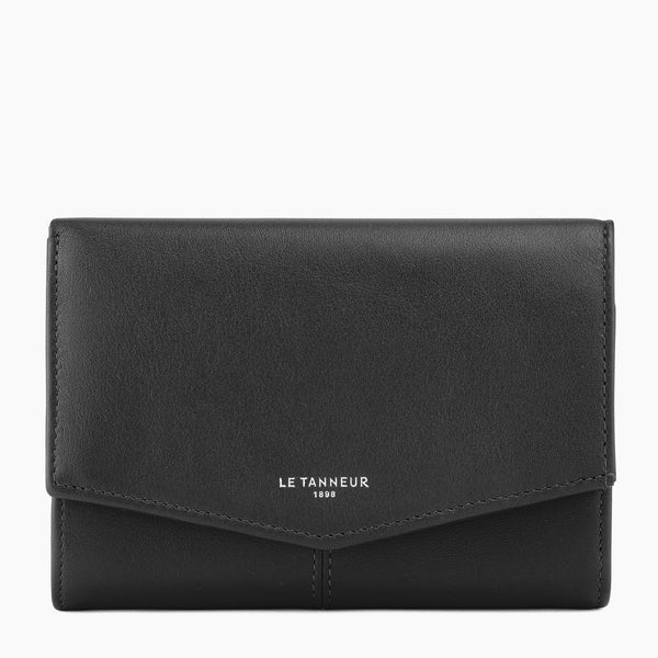 Charlotte smooth leather Clasp Wallet - Le Tanneur