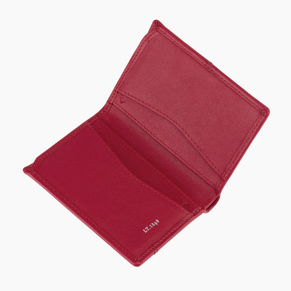 Charlotte smooth leather Card Case - Le Tanneur