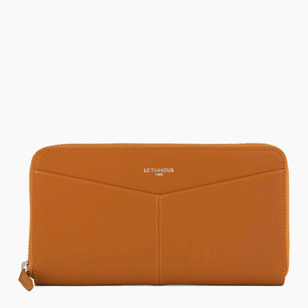 Zipped Charlotte smooth leather organiser wallet - Le Tanneur