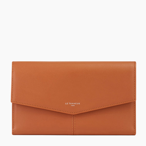 Flap Charlotte Smooth leather organizer wallet - Le Tanneur