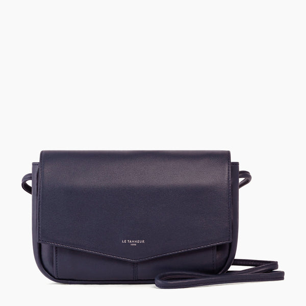 Pocket with removable shoulder strap Charlotte smooth leather - Le Tanneur