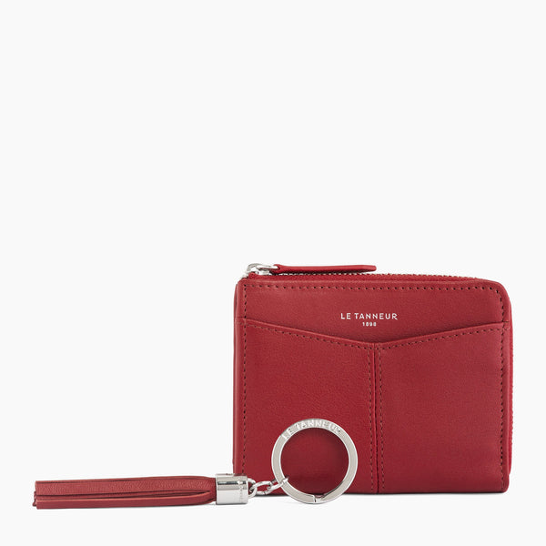 Gift box: keychain and L-shaped zip wallet Charlotte smooth leather - Le Tanneur