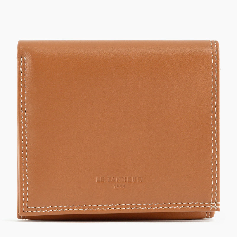 Wallet box with pocket bill Touraine smooth leather - Le Tanneur