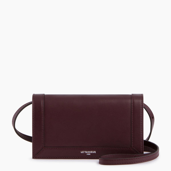 Pauline flap phone pouch smooth leather  - Le Tanneur