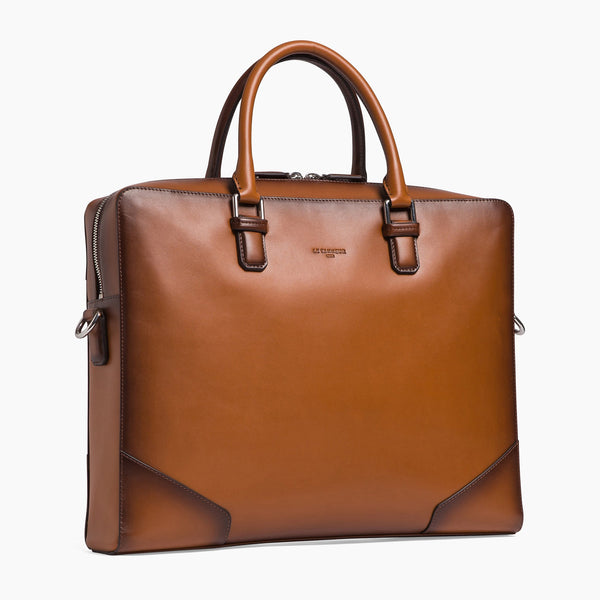 "15"" Corentin smooth leather document case - Le Tanneur"