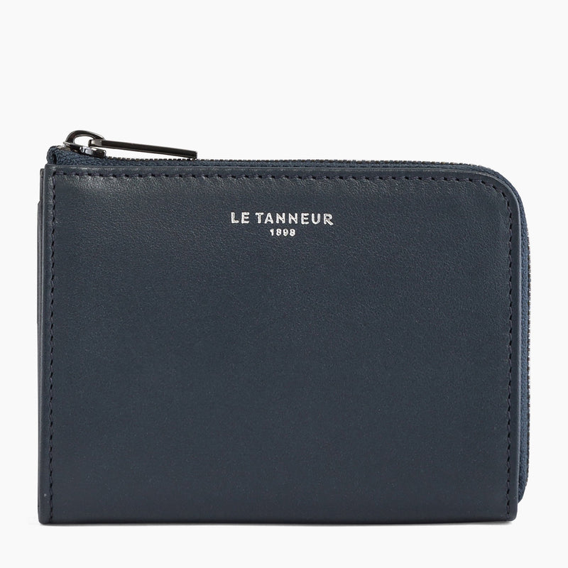 Quentin smooth leather L-shaped zip coin purse - Le Tanneur