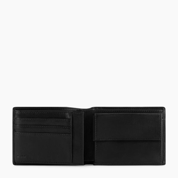 2 flap horizontal wallet with Gary flap coin pocket in oiled leather - Le Tanneur