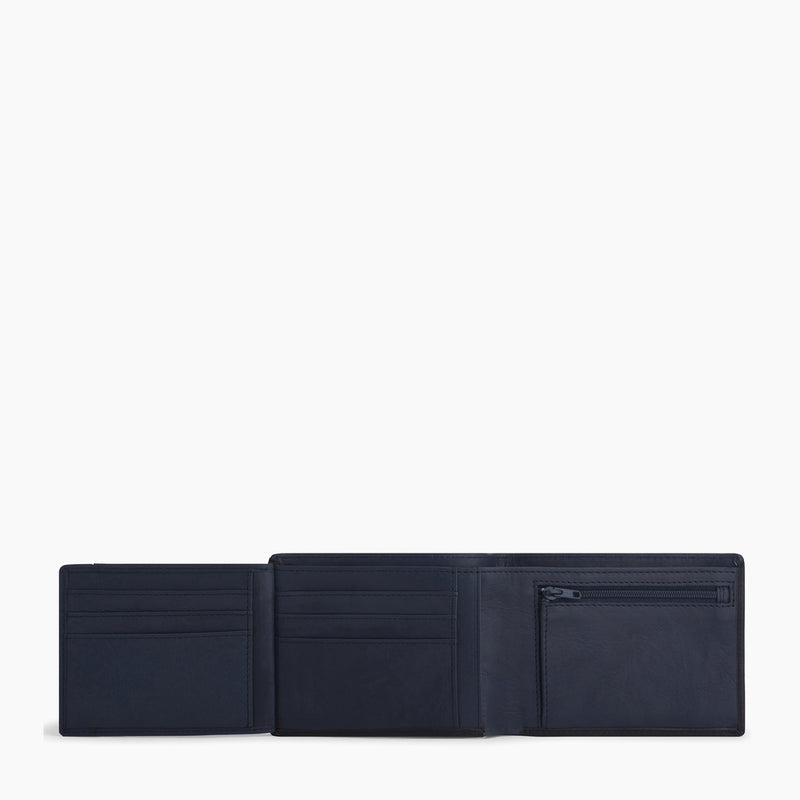 Gary 2 flap horizontal zipped wallet in oiled leather - Le Tanneur