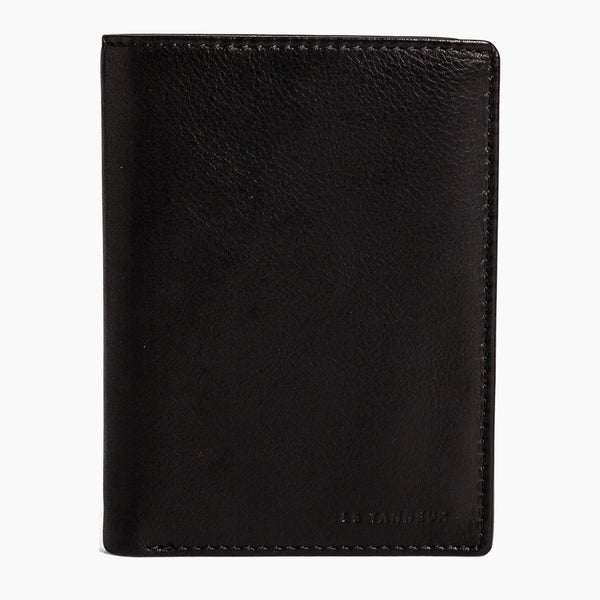 Vertical zipped 2 flap Gary wallet in oiled leather - Le Tanneur