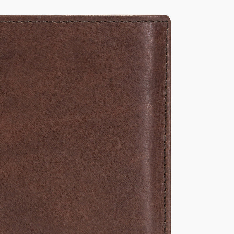 Gary's oiled leather 3 flap vertical wallet medium size zipped model - Le Tanneur