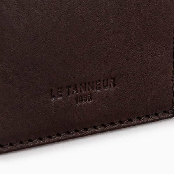 Gary vertical oiled leather card case - Le Tanneur