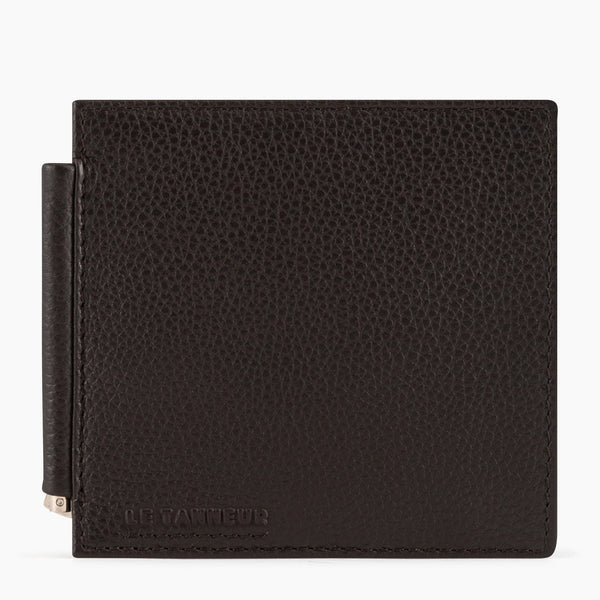 Clip wallet Marius pebbled leather - Le Tanneur