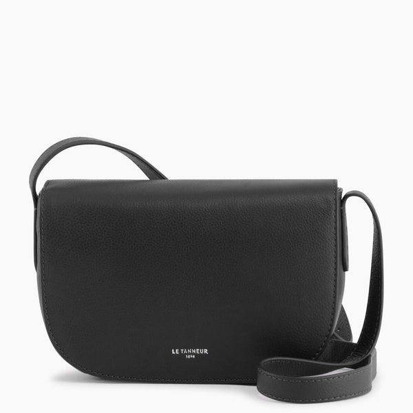 Medium shoulder bag model Sophie pebbled leather - Le Tanneur