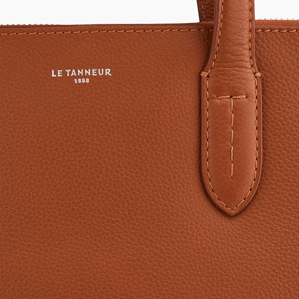 "Porte documents slim 14"" Sophie en cuir grainé  - Le Tanneur"