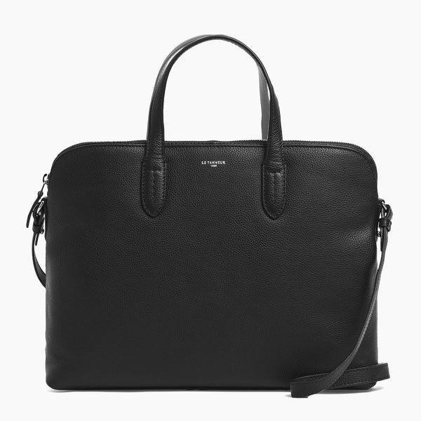 "Slim 14"" document case Sophie pebbled leather - Le Tanneur"