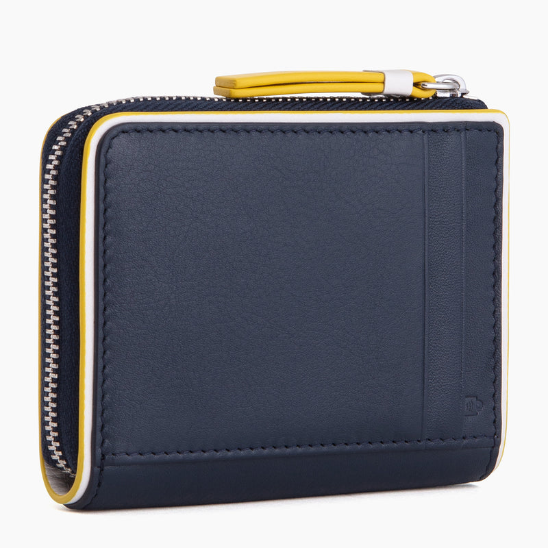 L-shaped smooth leather zip coin purse - Le Tanneur