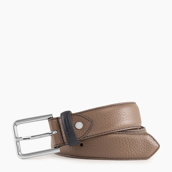 Charles square buckle men's belt - Le Tanneur