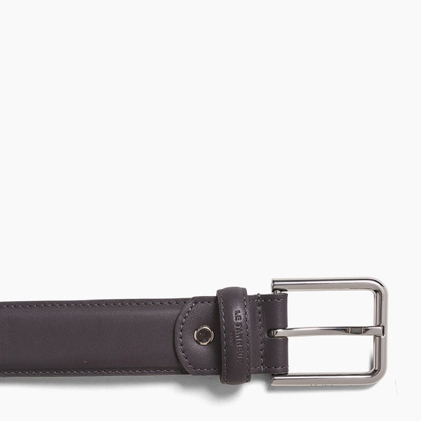 Men's belt with square buckle Corentin smooth leather - Le Tanneur