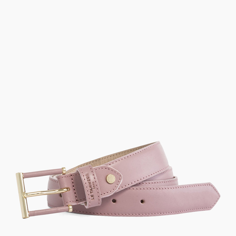 Classic women's belt in vegetable-tanned leather - Le Tanneur