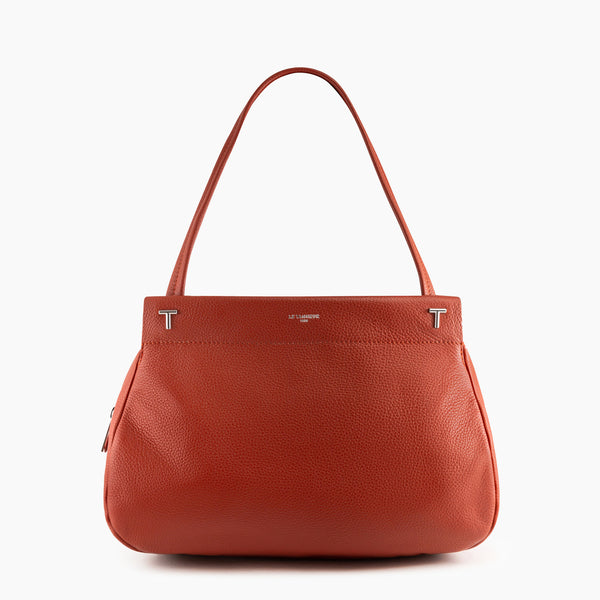 Shoulder bag Zoe pebbled leather  - Le Tanneur