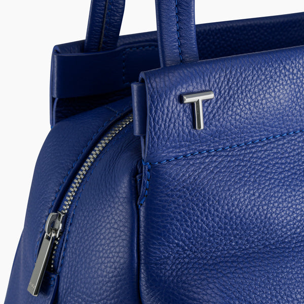 Large shoulder bag Zoe pebbled leather  - Le Tanneur