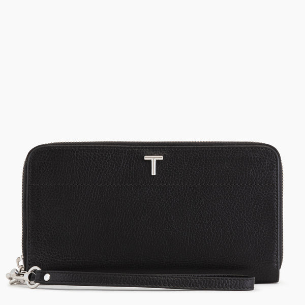 Zoe Zipped Companion pebbled leather  - Le Tanneur