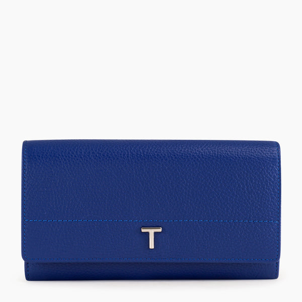 Zoe's flap companion pebbled leather  - Le Tanneur