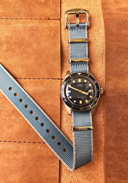 Oris 65 Diver's Watch on Armilla Blue NATO Watch Strap / Band