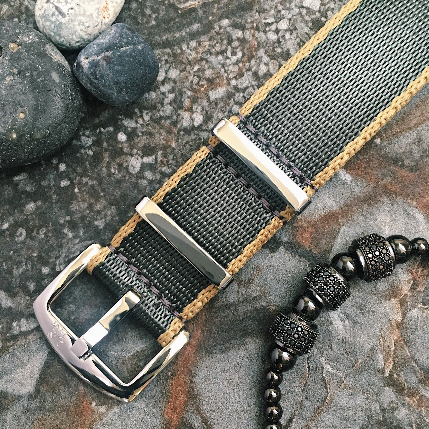 Armilla Ballistic Grey NATO Watch Strap / Band